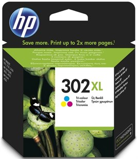 HP 302XL-F6U67A 8ml Tri Color CMY Mürekkep Kartuş 330 Baskı